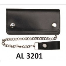 6 Inch Biker Wallet With 6 Pockets & Chain