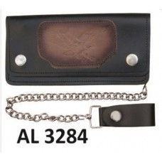 6 Inch Biker Chain Wallet with 6 pockets and Flying Eagle