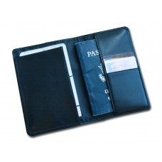 Classic Black Leather Passport Holder