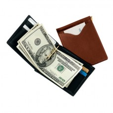 Men's Cash Clip Wallet With Outside Pocket