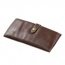 Leather Snap Trifold Wallet