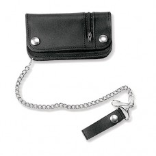 Black Wallet With Outer Zip Pocket