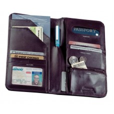 Cowhide Napa Leather Passport Travel Organizer