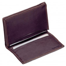 Cowhide Drum–Dyed Napa Leather Bi-Fold Credit/Business Card Case