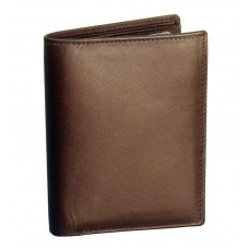 Cowhide Napa Leather Bi-Fold Wallet w/Removable I.D. Holder