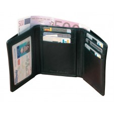 Cowhide Napa Supple Leather Tri-Fold Wallet