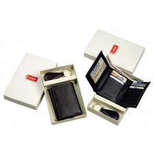 Tri-fold with Key Fob Set. Gift Box Included