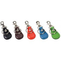 Top Grain Cowhide Leather Key Fob with Removable Key Ring and Clip for Valet