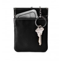 Cowhide Napa Leather Facile Frame Coin Purse and Key Holder