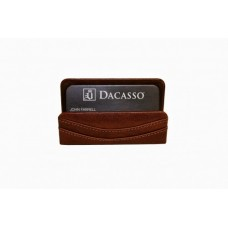 Cognac Italian Leather Business Card Holder