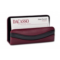 Two-Tone Leather Business Card Holder