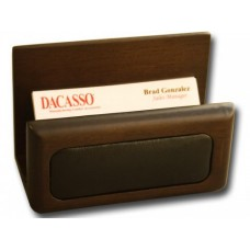 Walnut & Leather Business Card Holder