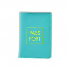 Leather Passport Wallet with Graphic