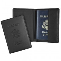 Genuine Leather Passport Document Case