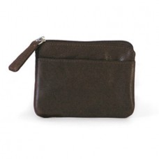 Zip Top Purse with Hide-a-Key leather